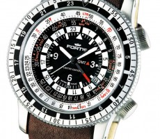 FORTIS B-47 CALCULATOR GMT 3 TIMES ZONES