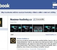 Nosime-hodinky.cz s vlastní stránkou na facebooku