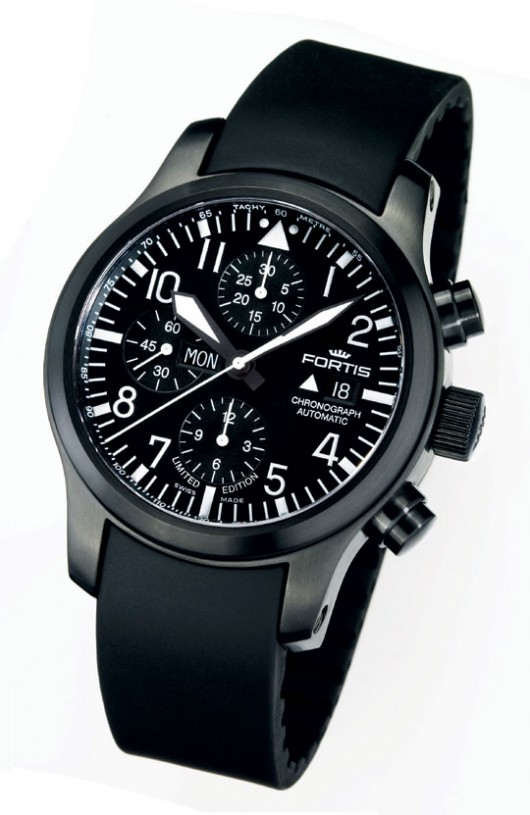 B-42 Flieger Black Chronograph