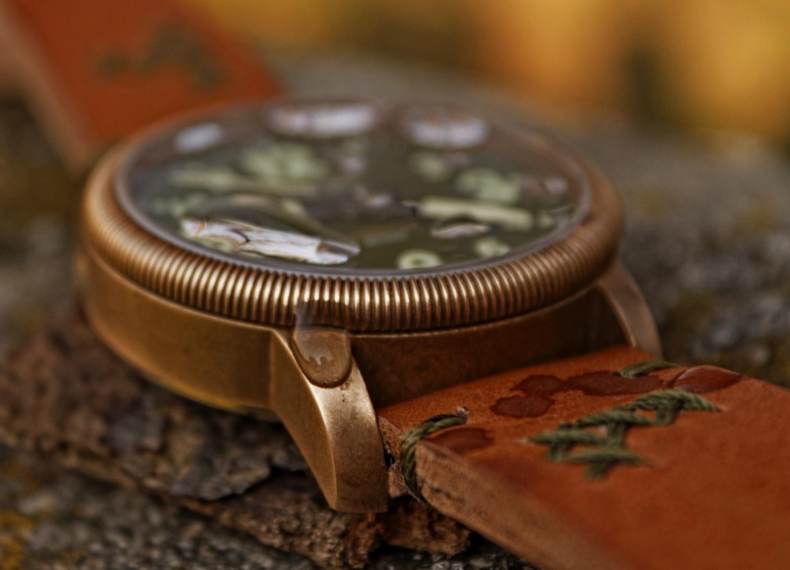 Bronzové hodinky Lum Tec B19 - matný cínový bronz – patina po jednom roce  nošení. 9a664962d4b