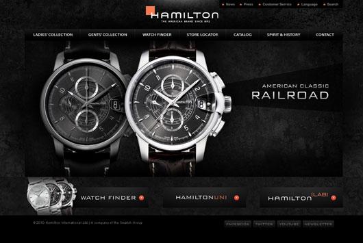 Americké hodinky Hamilton mají nové webové stránky