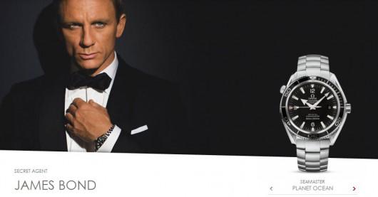 James Bond (alias Daniel Craig) nosí hodinky Omega