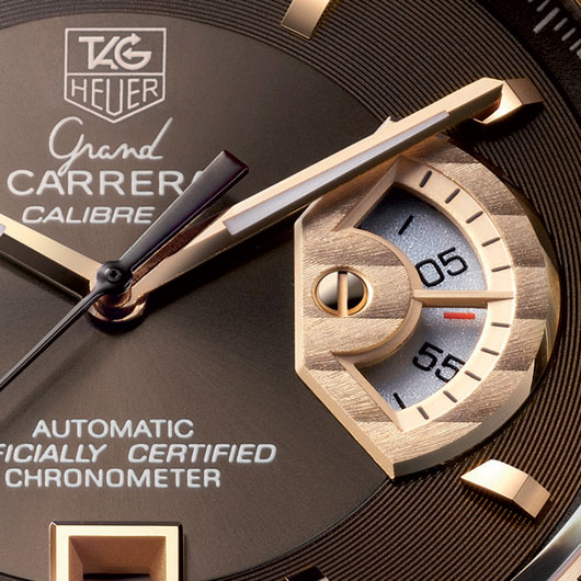 TAG HEUER Grand Carrera Calibre 17 Rose Gold Chronograph