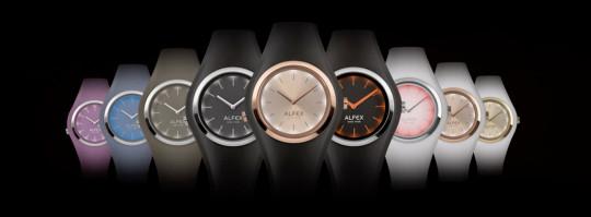 Barevné variace hodinek z řady Alfex IKON