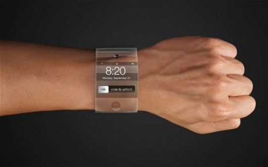 Koncept hodinek Apple iWatch.