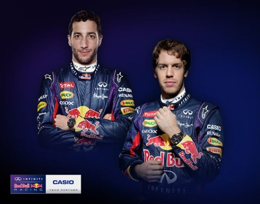 Casio Edifice a Infiniti Red Bull Racing