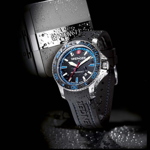 5fe76353db9 Švýcarská firma Wenger letos představila modelovou řadu hodinek určených  pro potápění a vodní sporty s trefným názvem Sea Force.