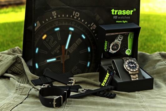 11) Traser 6506 obsah balení včetně možného příslušenství (pásků).