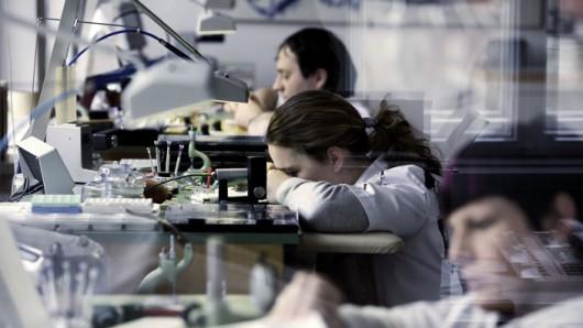 Manufaktura značky hodinek Nomos. Zdroj: Nomos
